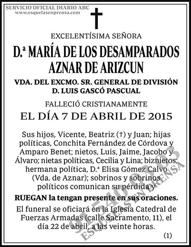 María de los Desamparados Aznar de Arizcun